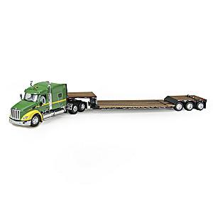 John Deere DCP Peterbilt 579 Diecast Truck With Trailer