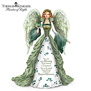 Thomas Kinkade Irish-Inspired Remembrance Angel Figurine