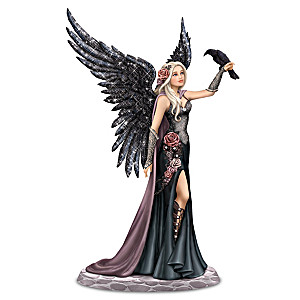 "Nene Thomas ""Light And Knowledge"" Fairy And Raven Figurine"