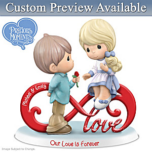 Precious Moments Personalized Figurine Celebrates Your Love