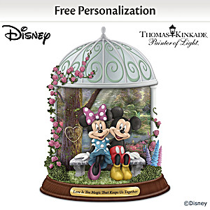 Disney Thomas Kinkade Romantic Personalized Figurine
