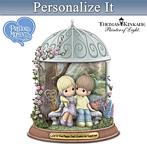 Precious Moments Thomas Kinkade Figurine With Your 2 Names