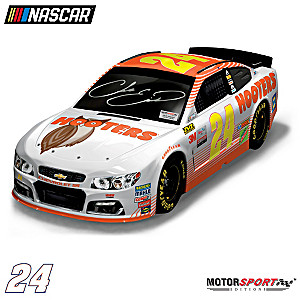 Chase Elliott Autographed 2017 Hooters Chevy SS Sculpture