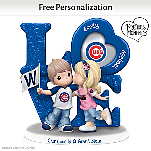 Precious Moments Cubs Personalized Couple Figurine