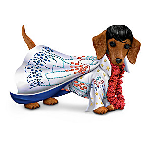 "Elvis ""Heartbreak Furr-tel"" Dachshund Figurine"