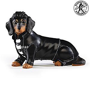 "Elvis Presley ""Jailhouse Furr-ock"" Dachshund Figurine"