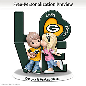 Precious Moments Packers Personalized Couple Figurine