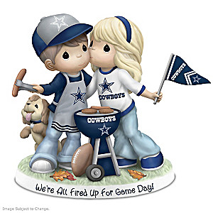 Precious Moments Tailgating Cowboys Couple Figurine