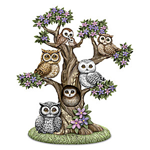 "Blake Jensen ""The Gathering Tree"" Owl-Themed Sculpture"