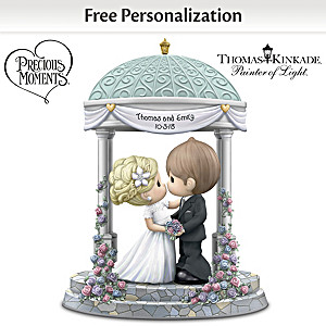 Precious Moments Personalized Porcelain Wedding Day Figurine