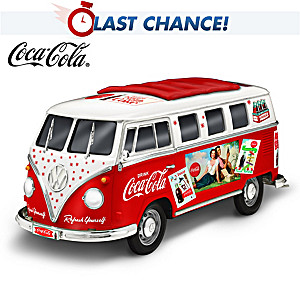 """Refreshingly Cool Ride"" VW Van Sculpture With '60s COKE Ads"