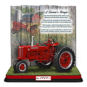 """Farmall: A Farmer's Prayer"" Sculpture"