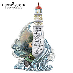 Thomas Kinkade Illuminated Lighthouse Sculpture