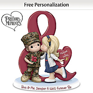"""You & Me, Semper Fi We'll Forever Be"" Personalized Figurine"