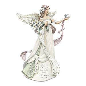 Karen Hahn Remembrance Angel Figurine With Swarovski Crystal