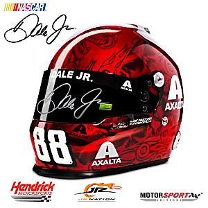 Hand-Autographed Dale Jr Axalta 2017 Skull Racing Helmet