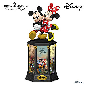 "Disney Thomas Kinkade ""Dreams Are Magical"" Lighted Sculpture"