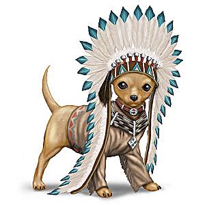 """""""Chief Barks A Lot"""" Chihuahua Figurine"""
