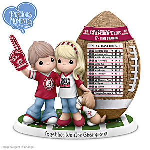2017 Football National Champions Alabama Couple Figurine
