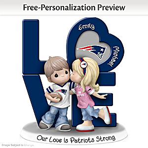 Precious Moments Patriots Personalized Couple Figurine