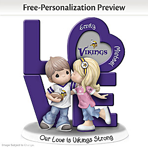 Precious Moments Vikings Personalized Couple Figurine