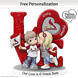 Precious Moments Cardinals Personalized Couple Figurine