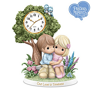Our Love Is Timeless Figurine With Clock