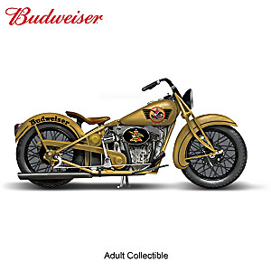 "Budweiser ""Original Cruiser"" Motorcycle Sculpture"