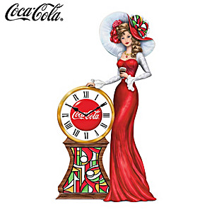 "COCA-COLA ""Timeless Memories"" Figurine With Working Clock"