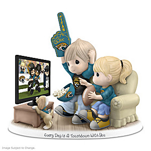 Precious Moments Jacksonville Jaguars Fan Porcelain Figurine