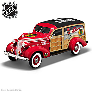 1:18-Scale Chicago Blackhawks® Woody Wagon Sculpture