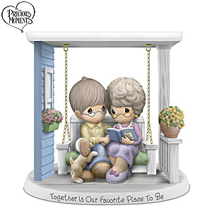 """Together Is Our Favorite Place To Be"" Porcelain Figurine"