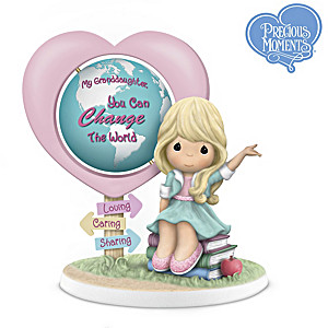 My Granddaughter, You Can Change The World Figurine