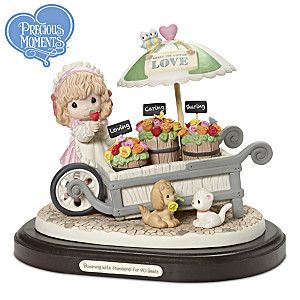 Blooming With Friendship For 40 Years Figurine