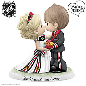 Precious Moments Chicago Blackhawks® Couples Figurine