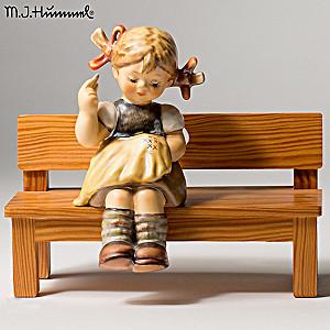 """Vintage M.I. Hummel """"Nimble Fingers"""" Porcelain Figurine"""