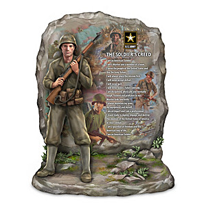 "James Griffin ""The Soldier's Creed"" Army Tribute Sculpture"