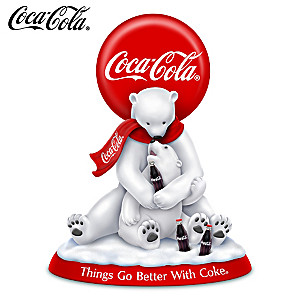 """Things Go Better With COKE"" COCA-COLA Polar Bears Figurine"