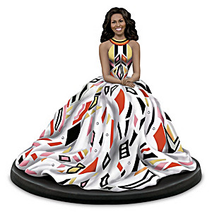 Keith Mallett Portrait Of First Lady Michelle Obama Figurine