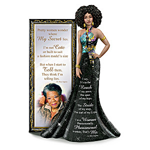 """I Am Phenomenal"" Figurine Featuring Maya Angelou's Poetry"