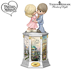 Precious Moments Thomas Kinkade Illuminated Love Story Tower