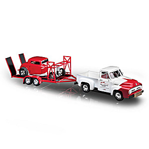 SO-CAL Speed Shop Diecast Truck, Hot Rod And Trailer Set