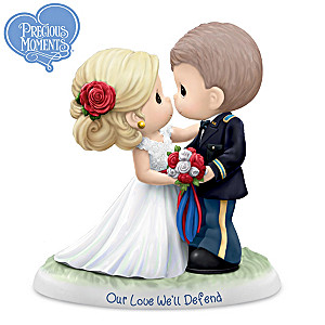 "Precious Moments ""Our Love We'll Defend"" U.S. Army Figurine"