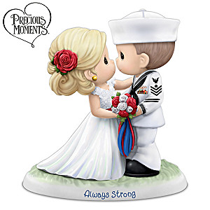 Precious Moments Porcelain U.S. Navy Wedding Figurine