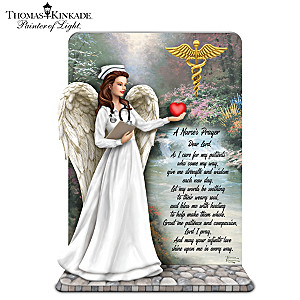 "Thomas Kinkade ""The Nurse's Prayer"" Sculpture"