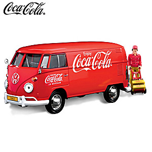 COCA-COLA 1963 VW Type 2 (T1) Diecast Cargo Van And Accessory Set