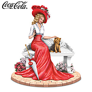 """A Delightful Day By COCA-COLA"" Lady And Yorkie Figurine"