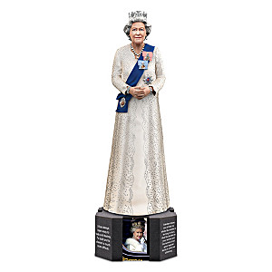 Queen Elizabeth II Figurine With Swarovski Crystals