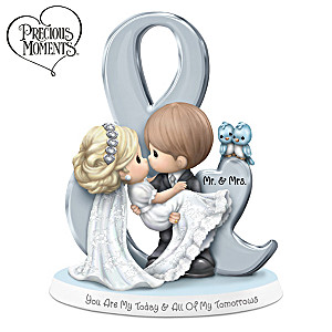 Precious Moments Bride And Groom Bisque Porcelain Figurine