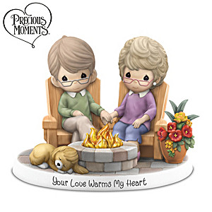 "Precious Moments ""Your Love Warms My Heart"" Lighted Figurine"